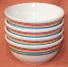 Longaberger Sunny Day Pottery Snack Bowls - Set of 4 - Soup or Salad - $39.15