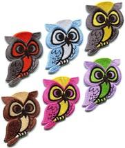 Lot of 6 owl bird of prey hoot animal wildlife applique iron-on patches new - £6.01 GBP