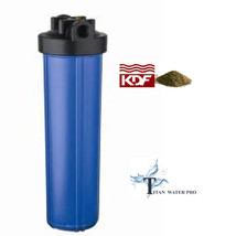 "Water Filter KDF85/GAC FILTER IRON/H SULFIDE 20""x4.5"" - Big Blue Housing... - $117.81"