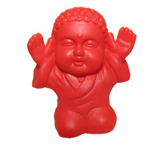 Pocket Buddha Red Praise Buddhism Mini Figure Figurine Toy - $4.99
