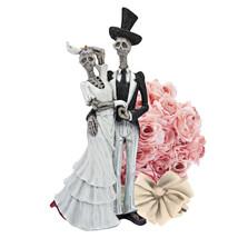 Gothic Bride & Groom Skeleton Marriage Death Do Us Halloween Wedding Dec... - £41.06 GBP