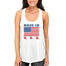 Made In USA Tank Top for July 4th Celebration American Flag RacerBack Tanks - $14.99+
