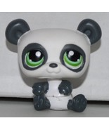 Panda Bear #250 (White / Grey, Green Eyed) Littlest Pet Shop (Retired) C... - $24.95