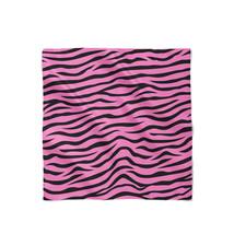 Zebra Print Bright Pink Satin Style Scarf - $30.24 CAD+