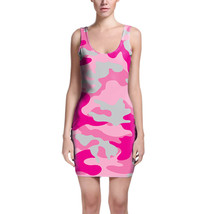 Camouflage Hot Pink Bodycon Dress - $30.99+