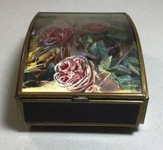Music Box Enesco Corp Sankyo Japanese  w/ Flower Decoration - $13.85