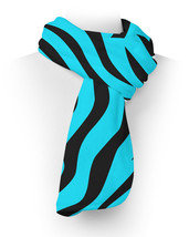 Zebra Print Bright Blue Fleece Scarf - $618,34 MXN+