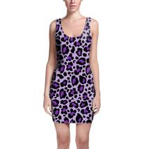 Leopard Print Bright Purple Bodycon Dress - $30.99+
