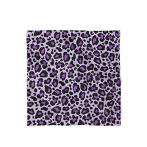 Leopard Print Bright Purple Satin Style Scarf - €19,79 EUR+