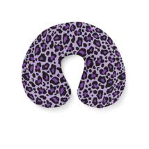 Leopard Print Bright Purple Travel Neck Pillow - €16,35 EUR