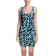 Leopard Print Bright Blue Bodycon Dress - $30.99+