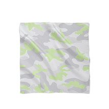 Camouflage Pastel Green Satin Style Scarf - ₨1,607.60 INR+