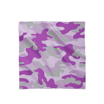 Camouflage Bright Purple Satin Style Scarf - ₨1,607.60 INR+
