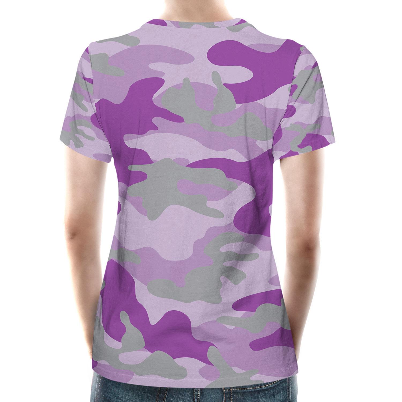 Camouflage bright purple women cotton blend t shirt t for Bright purple t shirt