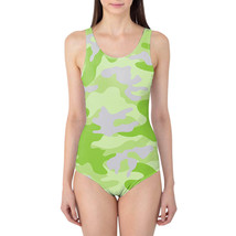 Camouflage Bright Green Women's Swimsuit - $37.99+