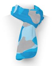 Camouflage Bright Blue Fleece Scarf - ₨2,236.55 INR+