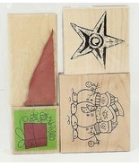 Rubber Stamp Christmas Holiday Snow Hill Snowmen Star Do Not Open Till C... - $10.00