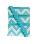 World Traveler Chevron Cross Body Bag, Turquois... - $11.70
