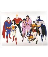 Super Friends Vintage 11X14 Color Cartoon TV Memorabilia Photo - $12.95