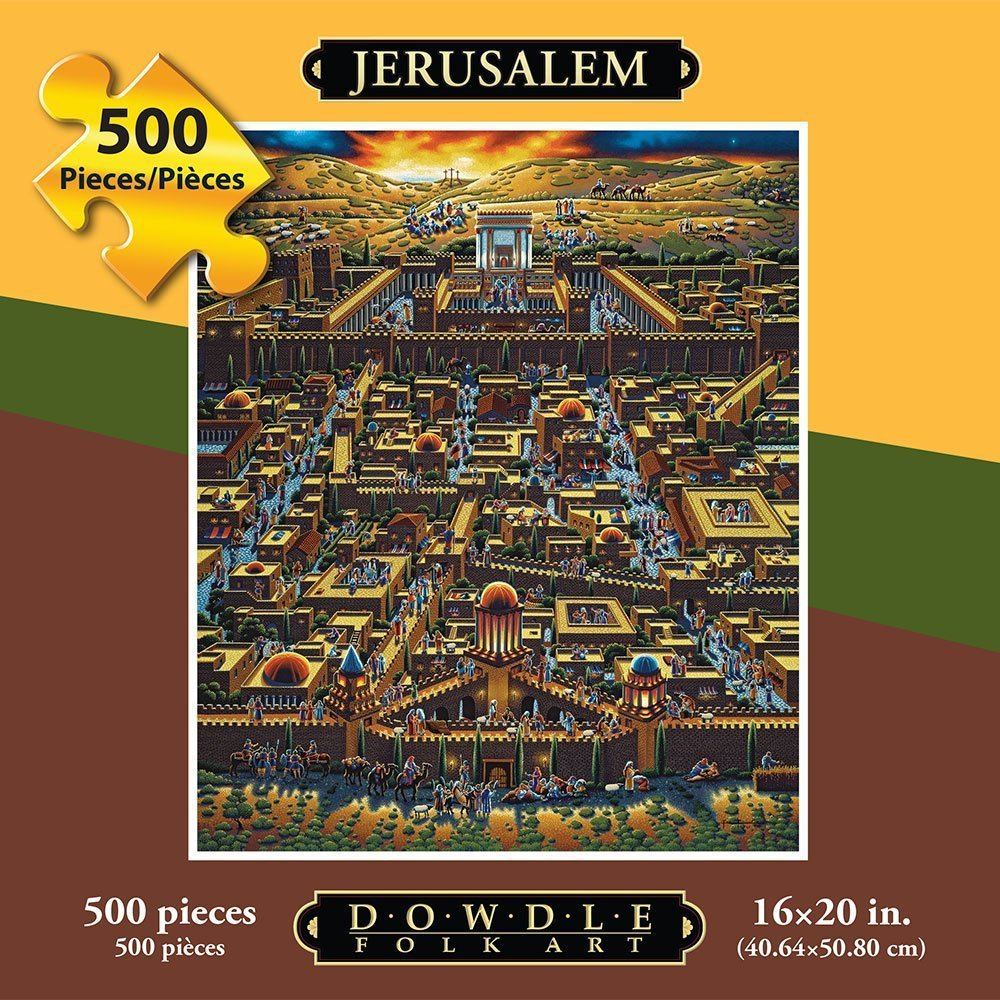 Jerusalem   folk art   puzzle   500 pieces