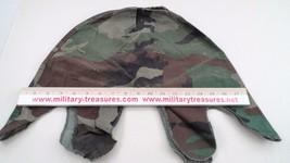GUC US Military USGI Surplus Woodland WL Canvas Camouflage Camo Helmet Cover - $7.08
