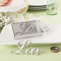 1 Love Themed Metal Bottle Opener Wedding Favor Drink Reception Gift Shower - $5.52