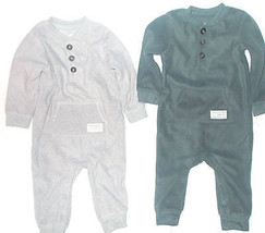 Carter's Baby Infant Girls Sleeper Jumpsuit Gray or Dark Gray Size 18 Mo... - $10.39