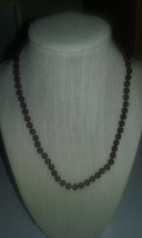 Hand Knotted Genuine Natural Garnet Gemstone Beaded Necklace SPECIAL LOW... - $19.99
