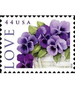 2010 44c Love Special Issue, Pansies in a Baske... - $1.66 CAD