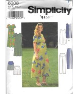 Simplicity 8008 Maternity Dress, Top, Pants , Shorts Sewing Pattern Size... - $9.99