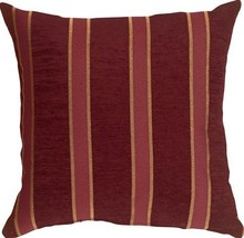 Pillow Decor - Traditional Stripes in Wine 16x16 Decorative Pillow - £14.92 GBP