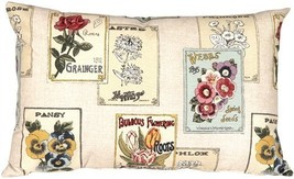 Pillow Decor - Vintage Seed Packet 16x24 Throw Pillow - £37.36 GBP