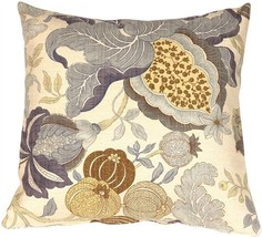Pillow Decor - Harvest Floral Blue 20x20 Throw Pillow - €48,91 EUR