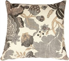 Pillow Decor - Harvest Floral Gray 20x20 Throw Pillow - £44.85 GBP