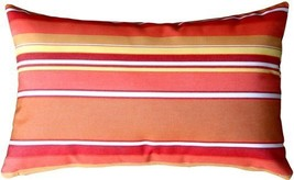 Pillow Decor - Sunbrella Dolce Mango 12x20 Outdoor Pillow - £26.14 GBP