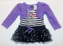Holiday Editions Toddler Girls Shirt with Tutu Sugar and Spice  Size 3T NWT - $12.59