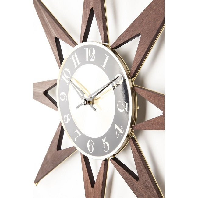 Mid Century Wall Clock Extra Large Oversized Midcentury Modern Retro Industrial