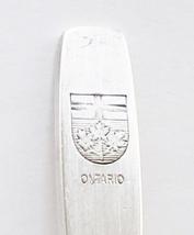 Collector Souvenir Spoon Canada Ontario Coat of Arms Flag G.G.H. 1973 - $1.99