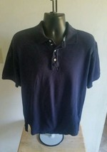 Men's Tommy Hilfiger Rugby Polo Shirt Navy Blue Size  Large - $11.98
