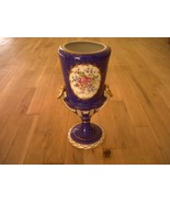 "Dresden Vase Urn Thieme SIGNED by artist LENAR Saxony Germany floral 12""... - $325.00"