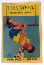 This Week J. Edgar Hoover Spies San Francisco Chronicle Newspaper 1940 W... - $18.32