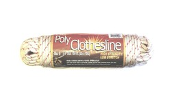 "1/4"" Diameter x 100 Feet High Strength Braided Poly Clothesline Rope #81004 - $13.36"