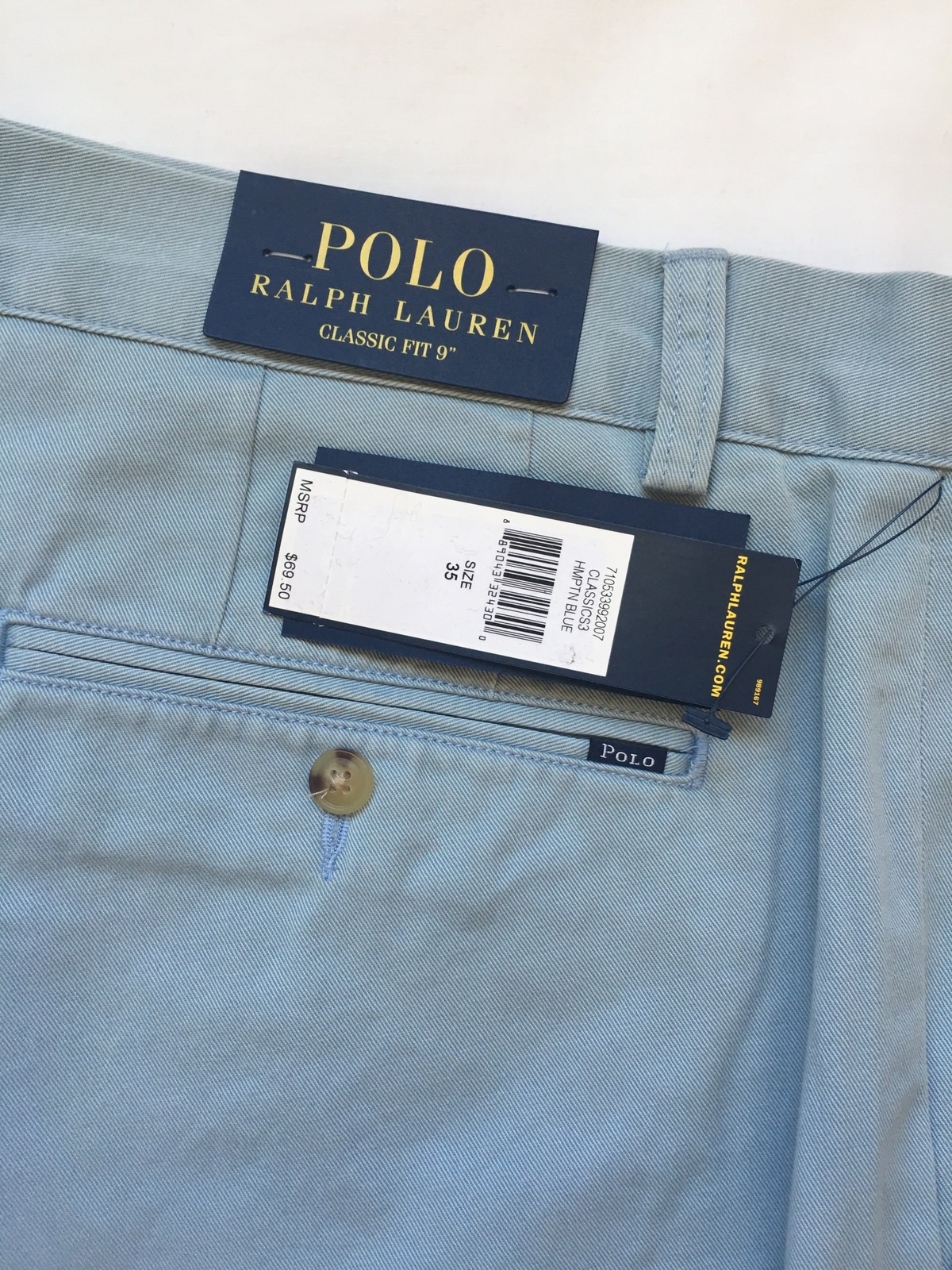 "NWT $69 Polo Ralph Lauren Classic Fit Chino 6/"" Shorts Mens 30 42 Navy Blue NEW"