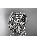 Platinum  diamond celtic trinity knot wedding band, bridal ring CT7232B - $4,495.00