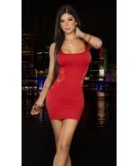 Sexy Lace Side Cut Tank Mini Dress Clubwear Espiral 4203 - $16.99