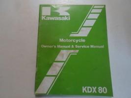 1984 Kawasaki Kdx80 Motorcycle Owners Manual & Service Manual Stain Water Damage - $19.79
