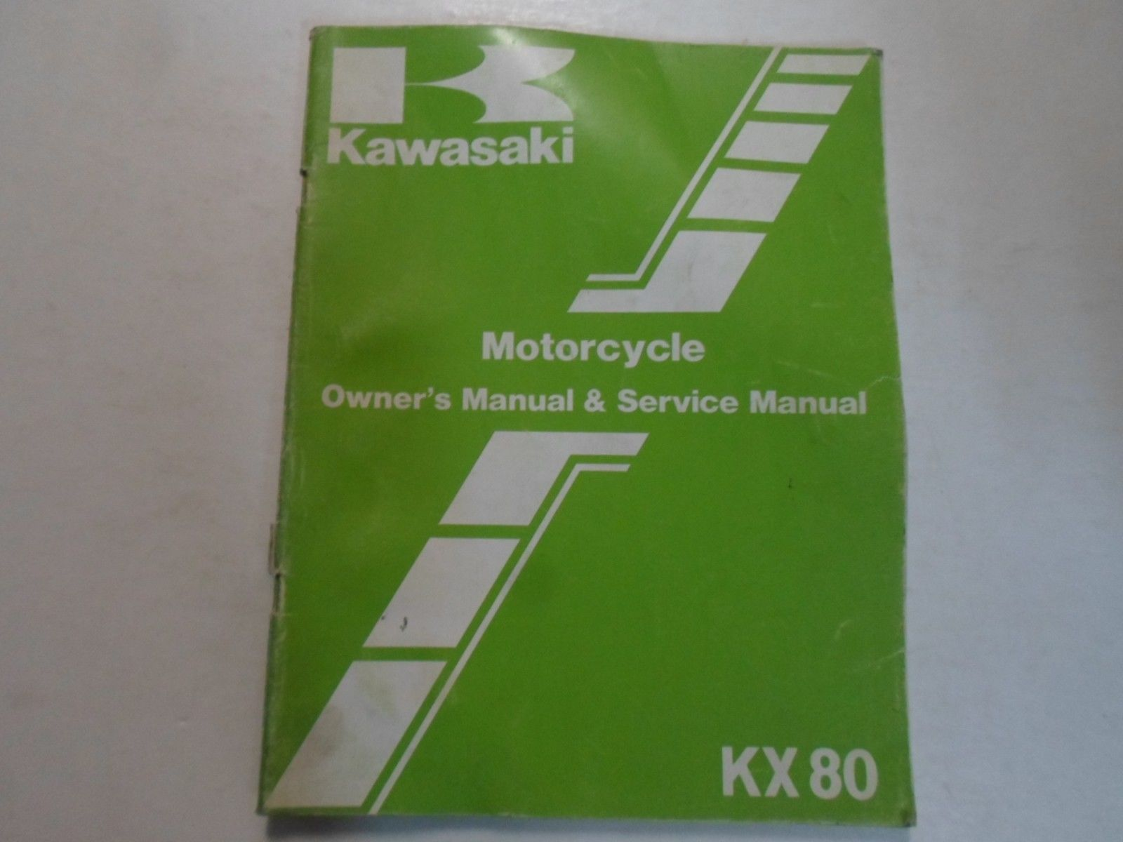 1984 Kawasaki KX80 Owners Manual & Service Manual DAMAGED WORN FACTORY OEM  DEAL