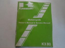1984 Kawasaki Kx80 Owners Manual & Service Manual Damaged Worn Factory Oem Deal - $17.81