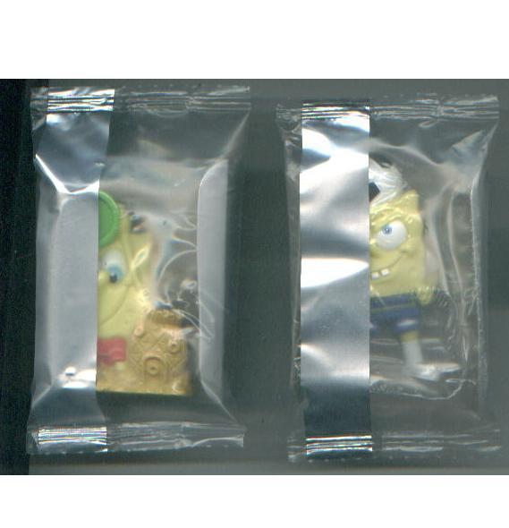 SPONGEBOB SQUAREPANTS CD case + cereal premiums + bendy + Mega Blocks figures
