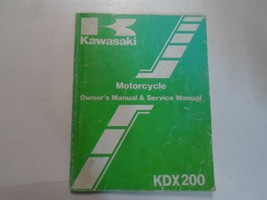 1987 Kawasaki Kdx200 Owners Manual & Service Manual Worn Sun Damage Factory - $19.76